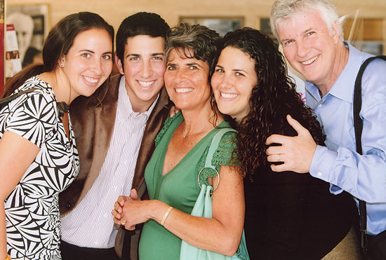 Peter Katona with his wife and children
