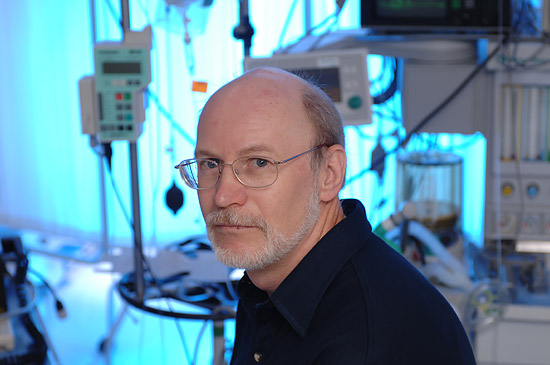 Sergei Kurenov, MS, a computer simulation expert who leads the UF department of surgery's surgical simulation group.