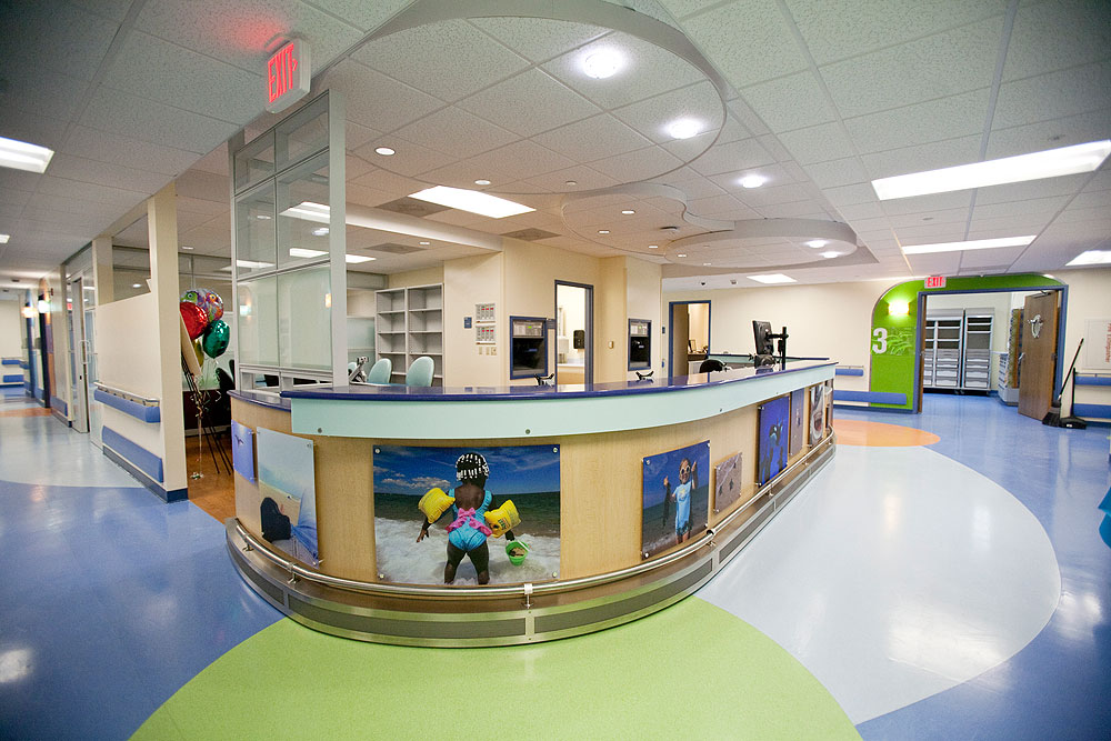 Kids Emergency Room : The nurses station is shown at the new Pediatric Emergency Room, which ...