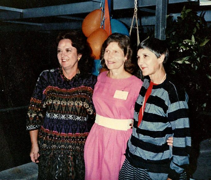 (From left) Agnes Whitley, MD, Suzanne Regul, MD, and Eugenia Riet, MD, graduated from the UF College of Medicine in 1962 as the only women in their class. Although they went their separate ways after graduation, they remain connected today. Here they are pictured at Alumni Weekend 1982.